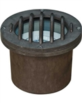Dabmar FG315-MR Fiberglass In-Ground Well Light with Grill Bronze