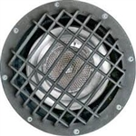 Dabmar FG4210-GRL Fiberglass In-Ground Well Light with Grill Bronze