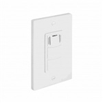 Orbit FS-200-W Humidity Sensor, 120v 60Hz 3A w/Fan & Light Switch - White