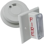 Firex 120V Hardwired Hearing Impaired Ionization Smoke Alarm Kit 1 Strobe Light