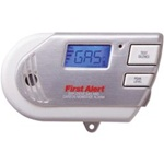 First Alert Plug-In Gas and Carbon Monoxide Alarm Battery Backup Digital Display