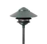 "Focus Lighting 12V 18W 10"" Pagoda Hat Area Light-Antique Verde"