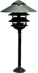 "Focus Lighting 12V 18W 10"" Four Tier Pagoda Hat Area Light-Black Texture"