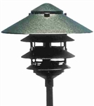"Focus Lighting 12V 18W 6"" Four Tier Pagoda Hat Area Light-Black Texture"