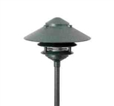 "Focus Lighting 12V 18W 6"" Pagoda Hat Area Light-Antique Verde"