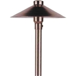 "12V 18W 6.5"" Adjustable China Hat Area Light w-Angle Cut Stem-Bronze Texture"