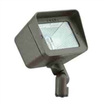 35W Adjustable Mini Floodlight w-High-Impact Clear Lens-Bronze Texture