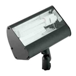 120V 9W ALum Adjustable Fluorescent Floodlight High-Impact Clear Lens-Black