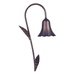 "Focus Lighting 12V 18W 4.5"" Alum Tulip Hat with Leaves Path Light-Black Texture"