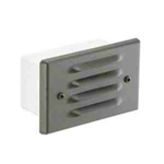 Focus Lighting 12V 18W Stamped Alum Four Louver Step Light-Bronze Texture