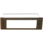 36W Four Louver Brick Step Light w-White High-Impact Lens-Bronze Texture