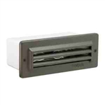 36W Aluminum Three Louver Brick Step Light Clear Acrylic Lens-Bronze Texture