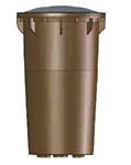 36W Sealed Composite Grated Well Light with Clear Lens-Bronze Texture