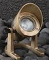 20W Brass Underwater Light with Angle Collar and Adjustable Bracket