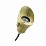 Focus Lighting 12V 20W Brass Underwater Light with Angle Collar