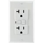 GFCI 15A Ground Fault Circuit Interrupter Receptacle with Wallplate-White