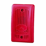 12VDC-24VDC Remote Mini-Horn for Supervised Systems-Red Faceplate