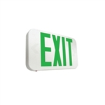 Howard Lighting - Slimline Thermoplastic LED Exit Sign - Battery Backup - HL0301B2GW
