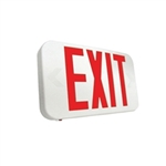 Howard Lighting - Slimline Thermoplastic LED Exit Sign - Battery Backup - HL0301B2RW