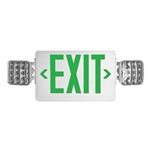 Howard Lighting - Exit/Emergency Combo Unit with LED Lamp Heads - Battery Backup - Remote Capable - HL03143GWRC