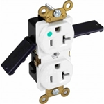 Orbit HR20-W Electric Outlet, 20A Duplex Receptacle Hospital Grade - White