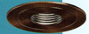 "Halo 4"" Low Voltage Pinhole Trim-Tuscan Bronze with Black Baffle"
