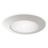 "Halo 6"" Line Voltage Shower Trim with Albalite Lens and Reflector Cone-White"