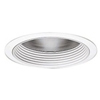"Halo 6"" Compact Fluorescent Trim with Clear Specular Reflector and Baffle-White"