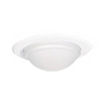 "Halo 5"" Line Voltage Shower Trim with Frosted Dome Lens-White"