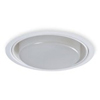 "Halo 8"" Compact Fluorescent Trim with Frosted Drop Opal Lens-White"