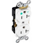 Orbit IGR20-W Electric Outlet, 20A Duplex Receptacle Industrial Grade - White