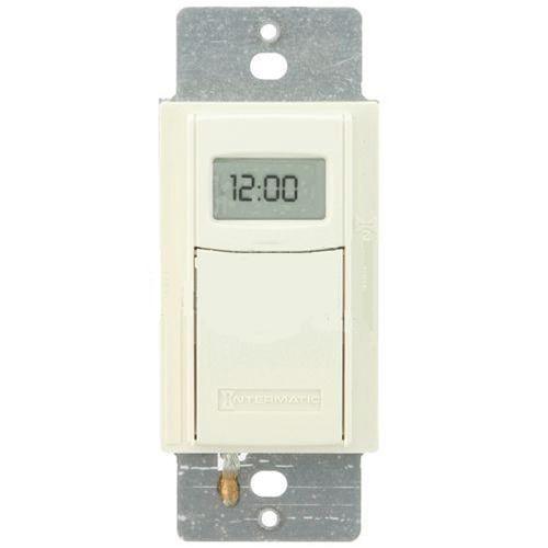 intermatic self adjusting wall switch timer almond. Black Bedroom Furniture Sets. Home Design Ideas