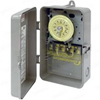 120V 24 Hr SPST Mechanical Timer with Industrial Plastic NEMA 3R Case-Beige