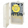 120V 24 Hr SPST Mechanical Timer with Industrial Plastic NEMA 3R Case-Gray