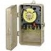 208-277V 24 Hr DPST Mechanical Timer with Industrial Plastic NEMA 3R Case-Beige