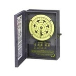 Intermatic 208-277V 4PST Heavy-Duty Mechanical Timer with Carryover