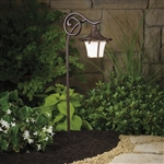 Kichler 15420 Cotswald 11.6W Low Voltage Path & Spread Light with Weathered White Glass
