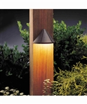 Kichler 15765 Functional One Light LED Mini Deck Light from the Six Groove Collection