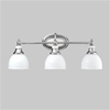 Kichler 3-Light Bath Transitional Wall Sconce-Chrome