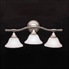 Kichler 3-Light Broadview Bath Sconce Strip-Brushed Nickel