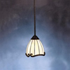 Kichler 1-Light Tiffany-Style Mini-Pendant-Tannery Bronze with Gold Accent
