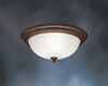 "Kichler 15"" Flush Mount Ceiling Light-Tannery Bronze"