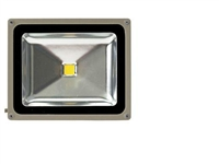 50 Watt - LED - Waterproof Flood Light Fixture Warm White - Operates at 100 to 240 Volts - 120 Degree Beam Angle - Light Grey Housing