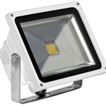 30 Watt - LED - Waterproof Flood Light Fixture Soft White - Operates at 85 to 265 Volts - 100 Degree Beam Angle - White Housing