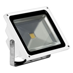 50 Watt - LED - Waterproof Flood Light Fixture Soft White - Operates at 85 to 265 Volts - 100 Degree Beam Angle - White Housing