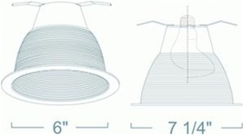 Liton Lightiing LRM33W - Metal Baffle Airtight with Gasket White