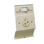 Cadet LTF240A Baseboard Heater 240V Load Transfer Switch & Receptacle - Almond
