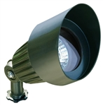 Dabmar LV101-G Cast Aluminum Directional Spot Light with Hood Green