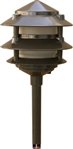 Dabmar LV102-BZ Cast Aluminum Three Tier Pagoda Light Bronze