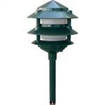 Dabmar LV102-G Cast Aluminum Three Tier Pagoda Light Green